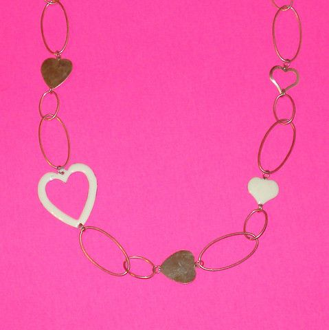 Chain of Hearts Necklace - Mookie Designs Vintage
