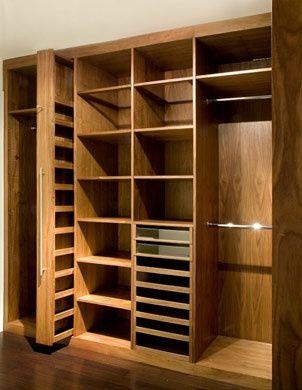 Vestidor fabricado a medida en acabado sintético color cerezo. www.mueblesdifferent.com