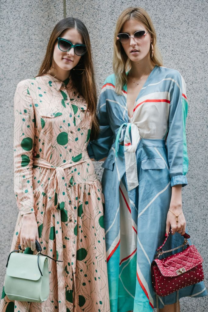 Street style at New York Fashion Week spring 2018.