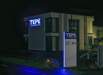 TEPE Systemhallen - GoSigno GmbH #signage #wayfinding #sign #gosigno #design #architecture