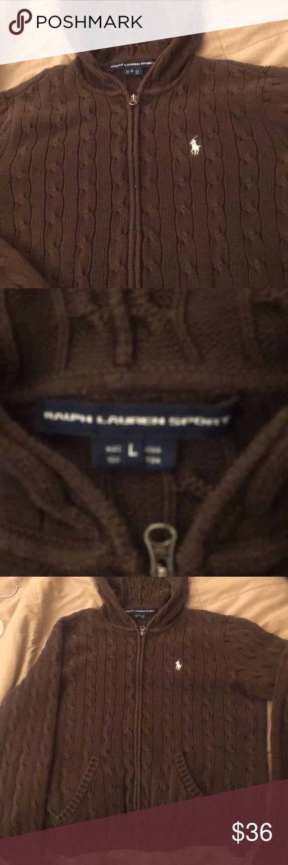 Ralph Lauren BROWN women's zip up size L Ralph Lauren sport women's BROWN zip up size Large. Good condition Ralph Lauren Jackets & Coats