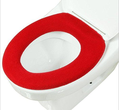 Gullor doux et chaud épaississent housses de sièges de toilettes – rouge