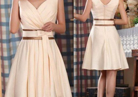 Элегантный праздничный наряд! Изящное платье с прекрасным вырезом + простые выкройки на все размеры… — БУДЬ В ТЕМЕ