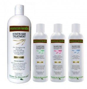 Brazilian Keratin hair Treatment by Moroccan Keratin GOLD SERIES Proven Formula. XL set