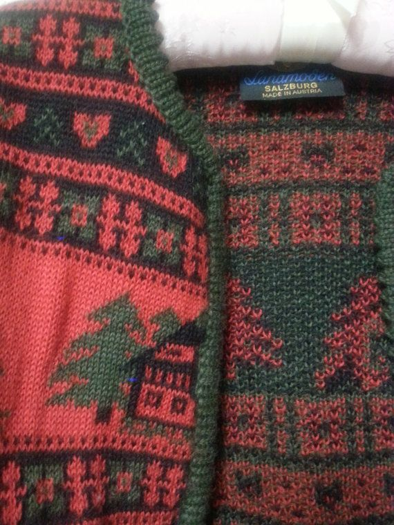 Austrian Ski Sweater cutest ugly christmas sweater by vitch
