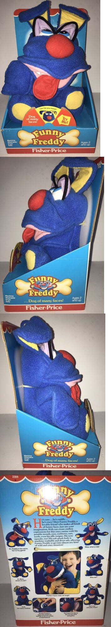 Vintage 165956: Vintage 1987 Fisher Price Funny Freddy Blue Stuffed Animal New In Box Rare!! -> BUY IT NOW ONLY: $36.79 on eBay!