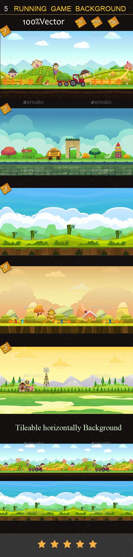 5 Running game backgrounds Download here: https://graphicriver.net/item/5-running-game-backgrounds/11151406?ref=KlitVogli