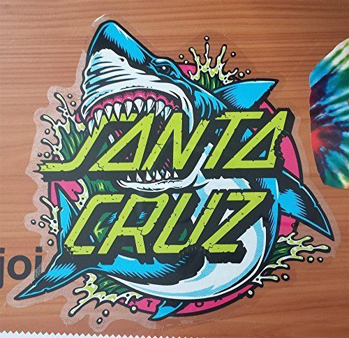 Santa Cruz Skateboard / Surf Sticker – Shark Dot – Approx 8cm wide. surfing skating board surfboard: Brand new sticker made by the…