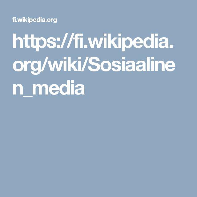 https://fi.wikipedia.org/wiki/Sosiaalinen_media