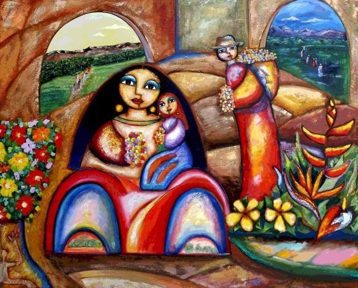 Segundo Huertas Torres Pintor Colombiano Pintura Tipica