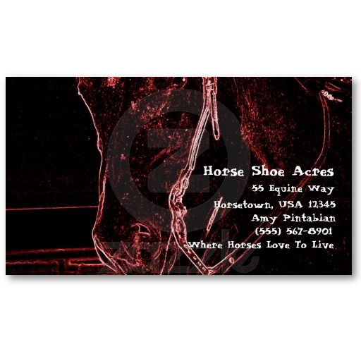 The 16 best business cards for the equine business images on neon western horse business card template colourmoves