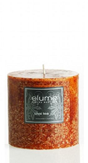 Elume Chai Tea 10cm Pillar Candle