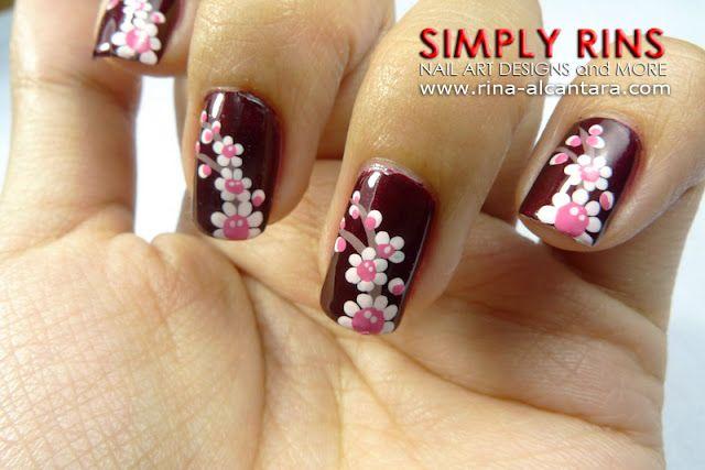 Nail Art fiori di ciliegio - All Tube and MakeUp