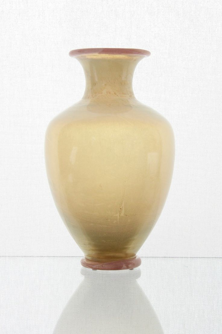 """A.Ve.M., Murano Vase 1930 """"Vetro Opalino d´Oro Iridescente"""""""