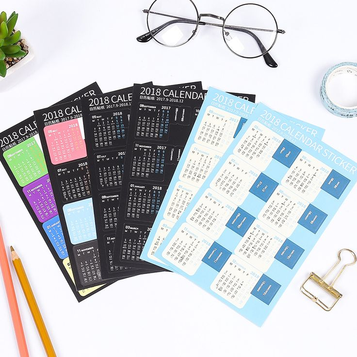 Cheap calendar stickers, Buy Quality calendar diy directly from China calendar work schedule Suppliers: 2 pcs/pack New 2018 Year Mini Calendar Stationery Index Decorative Stickers Label Calendar Sticker DIY Work Schedule Calendar