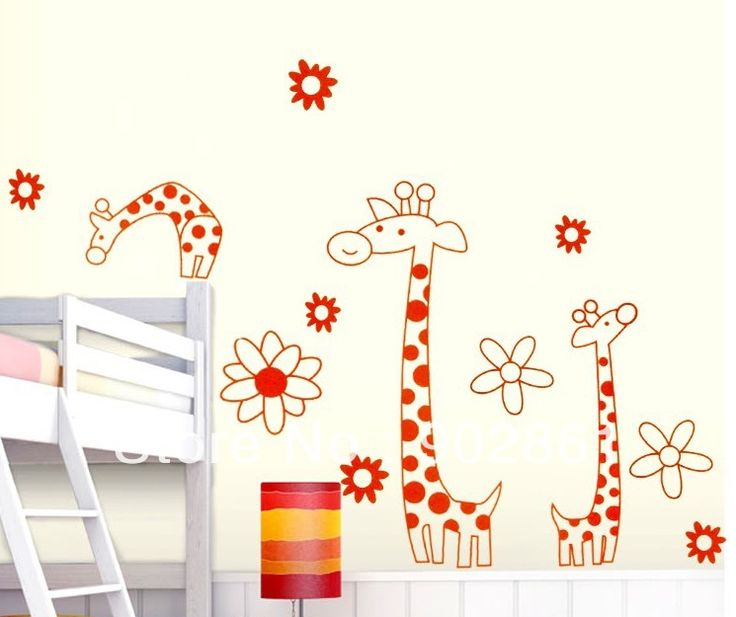 [funlife]-Removable Large Giraffe Art Decor Nursery/Children's Room Wall Stickers(China (Mainland))