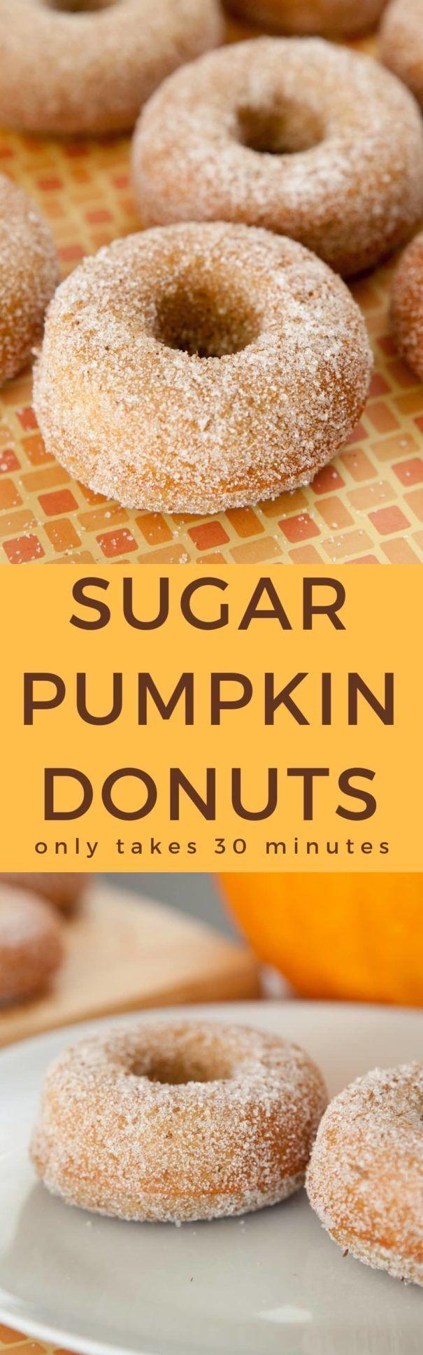 Gebackene Zimtzucker Kürbiskuchen Donuts! Dieses …