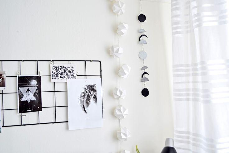 DIY - Dekoracja Fazy Księżyca. DIY - Moon Phases | Cleo-inspire Blog | Cleo-inspire