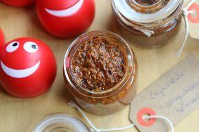 Tapenade van zongedroogde tomaten en basilicum