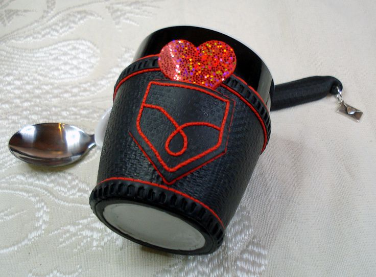 Valentine's Day mug and spoon set!!! Handmade, polymer clay by 1000and1 on Etsy