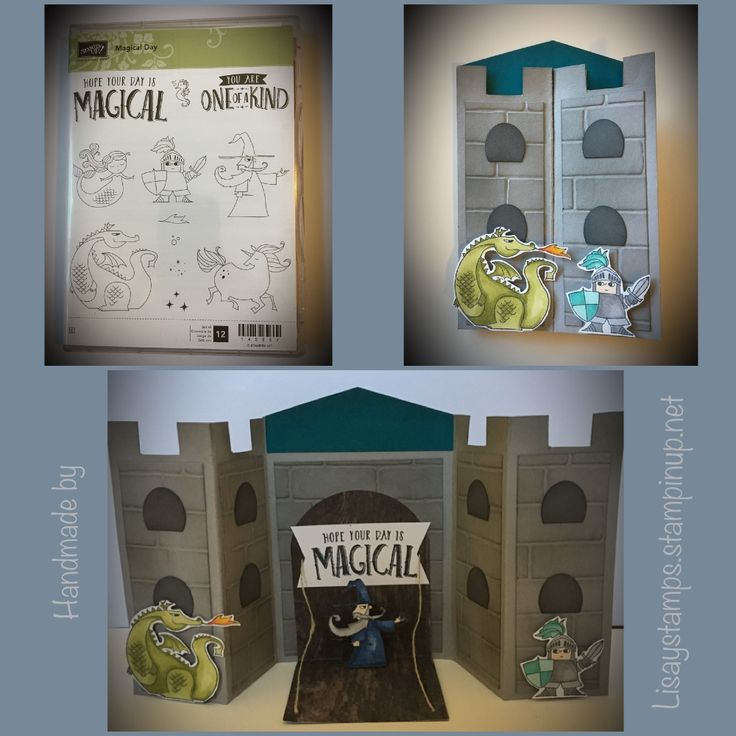 Magical Day stamp set from Stampin' Up! Is so cute! I had fun creating this little castle scene with it