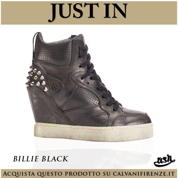 Le #sneaker con #zeppa #Billie #Black di #Ash sono #ideali per le vostre #serate in #città! #Sportive e #trendy allo stesso #tempo faranno #cadere tutti ai vostri #piedi!#Scoprile su #calvanifirenze