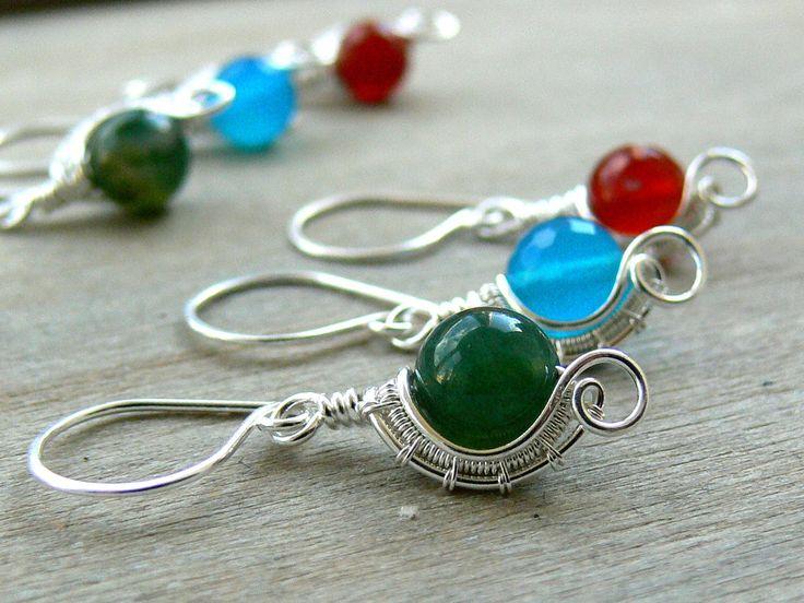Rustic Bridal Earrings,  Silver earrings, Boho Earrings, Boho Wedding, Rustic Bridal Jewellery, Rustic Bridesmaid Earrings, Earrings by AdornWireStudio on Etsy https://www.etsy.com/au/listing/522103471/rustic-bridal-earrings-silver-earrings