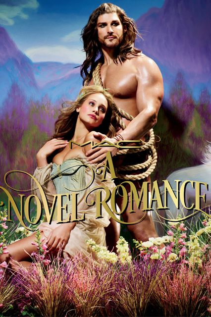 This Is How MAC Does A Romance Novel #refinery29  http://www.refinery29.com/mac-novel-romance-makeup-collection-fall-2014#slide9  Nothing says romance like lounging in a field of wildflowers with a rope around your chest. Not exactly sure what he's got planned for that...