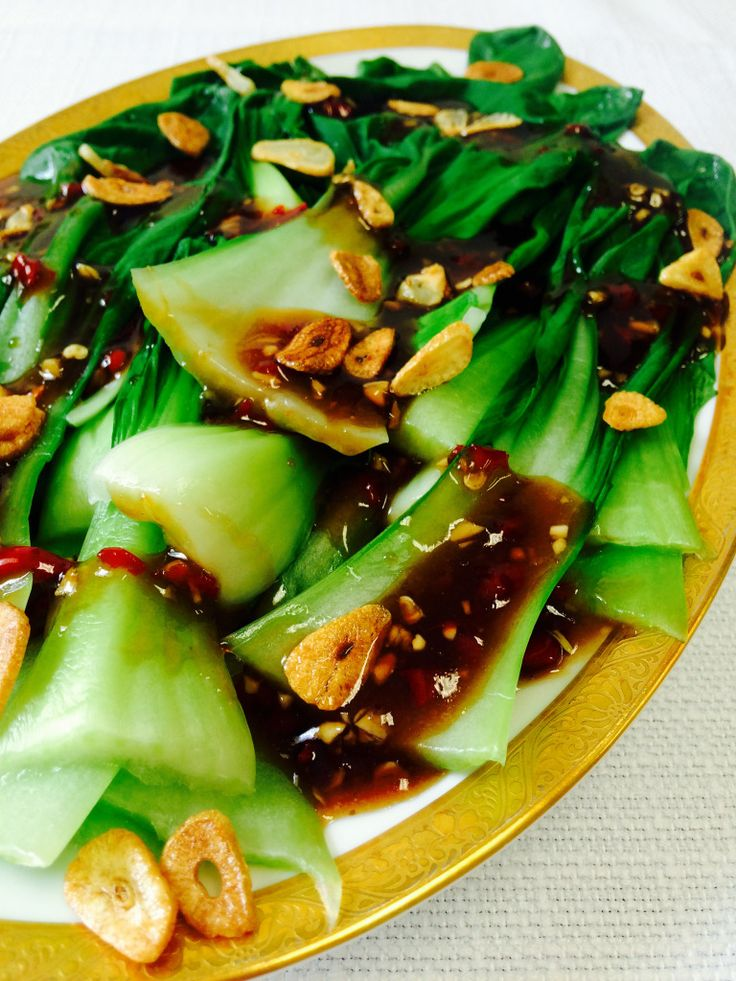 Bok Choy with Oyster Sauce & Fried Garlic Recipe - Shine Dining