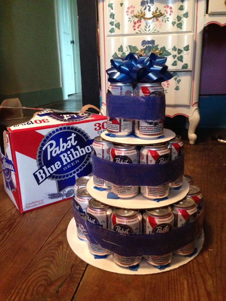 Pbr Beer Cake Happy Birthday Hunter  Cake, Let Them Eat -7543