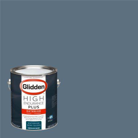 Glidden High Endurance Plus Exterior Paint and Primer, Mountain Slate Blue, #10BB 18/106