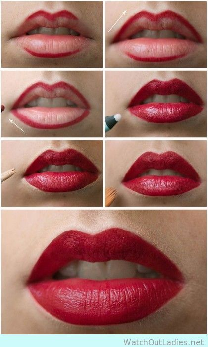 Red Lips for beginners tutorial
