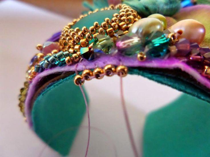 Free Tutorial. Step By Step Shibori Cuff Tutorial by Serena Di Mercione Jewelry