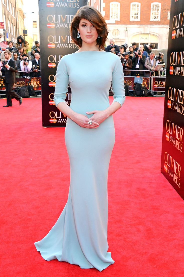Gemma Arterton  - 2014 Olivier Awards - Dress: Prada