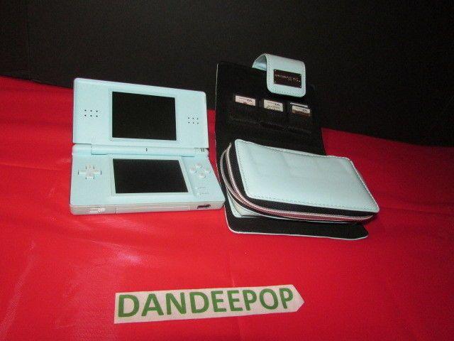 Nintendo DS Lite Ice Blue Handheld Video Game Console with Games In Case #Nintendo #DSLite #VideoGame #IceBlue #Gaming #dandeepop Find me at dandeepop.com