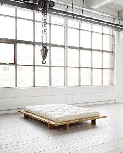 KARUP - JAPAN, letto matrimoniale giapponese misura 188 in legno grezzo: Amazon.it: Casa e cucina