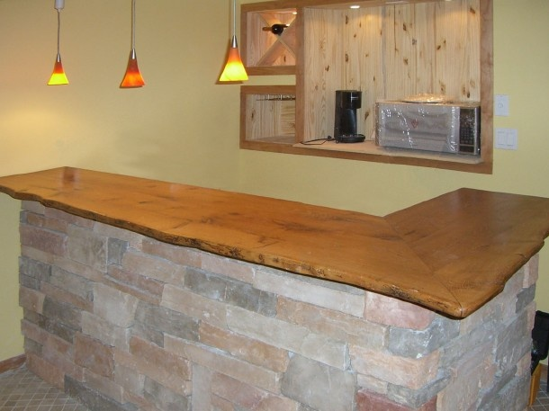 15 Best Wood Countertops Images On Pinterest Wood Countertops. Chunky Bar  Top ...
