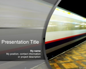 Speed PowerPoint template is a free speed background for PowerPoint with a moving metro image in the background and great for speed presentations