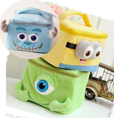 Women Despicable Me Cosmetic Cases Handbags/Traval Minions Makeup Bags/Cute Elephant Cosmetics Bags/Kids Cartoon Storage