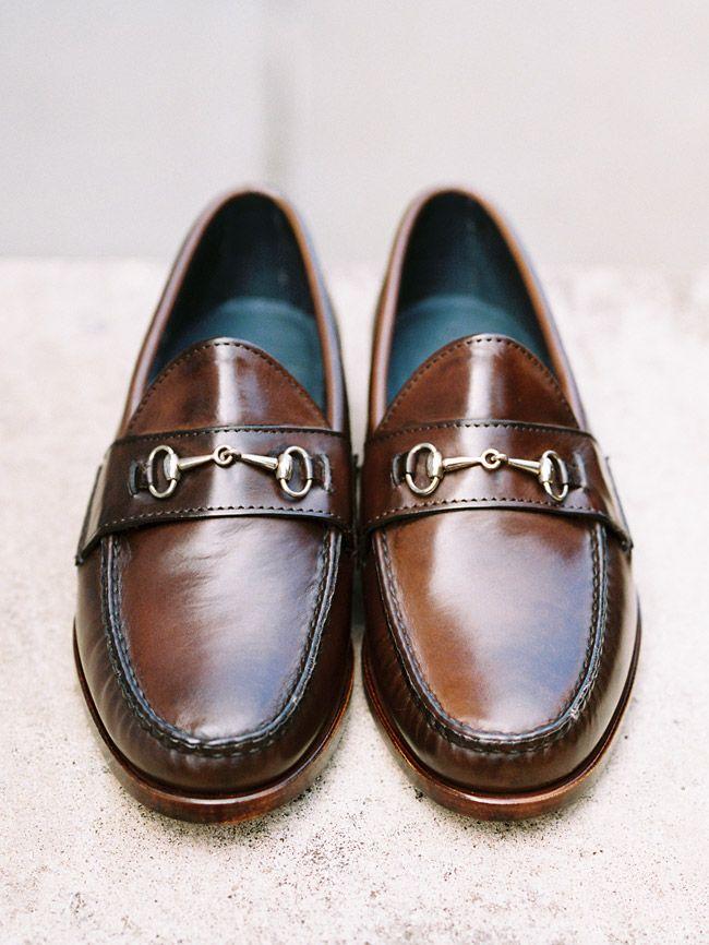 Rancourt Bit Loafer in dark brown calfskin. Single oak leather outsoles. via Harrison Limited