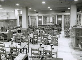 Lazarus Department Store -- The Colonial Room Restaurant on the First Floor, meant to resemble Colonial Williamsburg's Raleigh Tavern