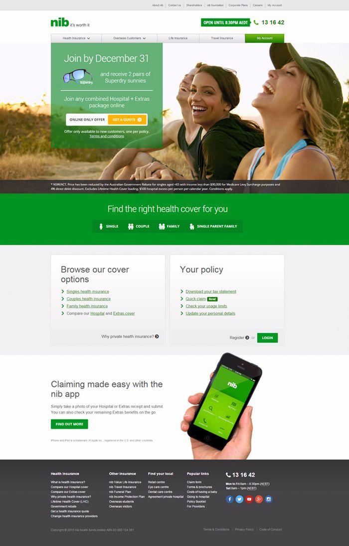 26 Excellent Insurance Websites Inspiration Designyep Health Infographics Design Health Facts Fitness Infographic Health