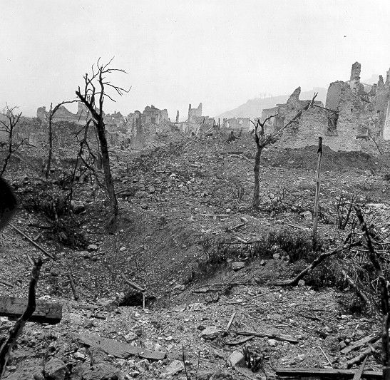 Ruins of Monte Cassino after the battle