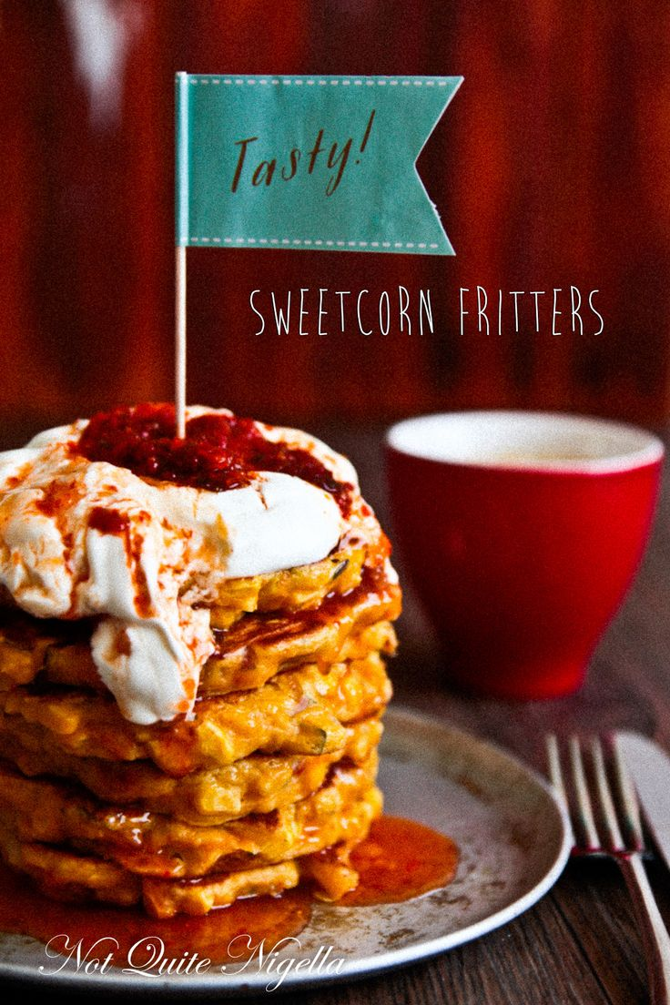 Chilli and Sour Cream Corn Fritters