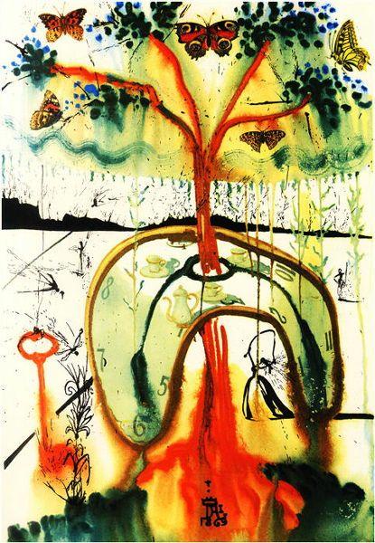 サルバドール・ダリが描いたあまりにもシュールな「不思議の国のアリス」   BUZZAP!(バザップ!)