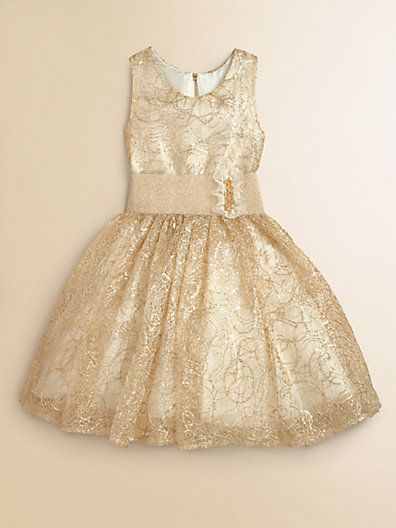 At least 6 of my little grand daughters would love this beautiful dress! Every little girl's dream holiday dress...