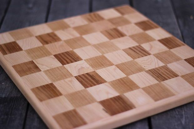 Wooden checker board wooden checkerboard in - 17 Best Images About Chess Board Plans Checker Board