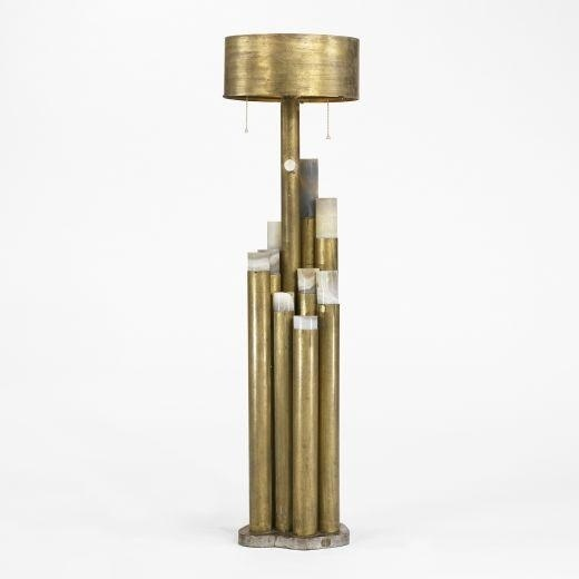 ado chale onyx and patinated brass bronze table lamp - Lamp Bureau Ado