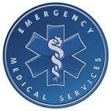 Emergency Medical Services EMS Ambulance Round Placa de lata