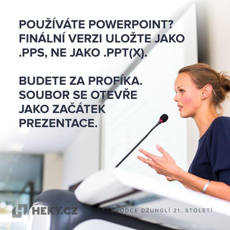 Používáte Powerpoint? Finální verzi uložte jako .PPS